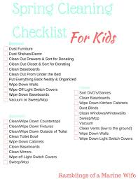 spring cleaning checklist for kids nothing but room