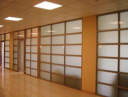 Large Room Dividers by Interior Large Wooden Frame Glass Frosted Panels Wall Dividers