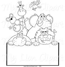 coloring animal coloring pages clipart of page outlined zoo