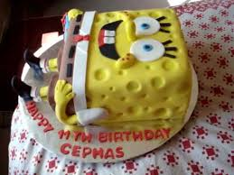 spongebob cake ideas spongebob square fondant birthday cake