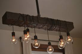 wood beam chandelier amazon com