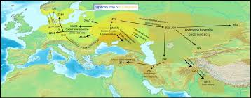Map Of Europe And Asia by Maps Of Neolithic Bronze Age U0026 Iron Age Migrations In Europe And