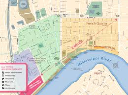 New Orleans French Quarter Map by Walkable New Orleans New Orleans Ernest N Morial Convention