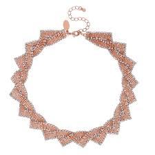rose gold crystal necklace images Jon richard rose gold crystal twist statement necklace jewellery jpg