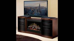 tv on top of electric fireplace youtube