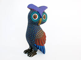owl a oaxacan wood carving handmade in mexico wooden folk