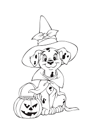 halloween dog coloring page vitlt com