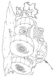 monster truck mutt coloring page free coloring pages online