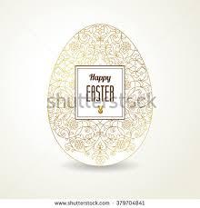 golden ornamental egg your easter design stock vector 259624346