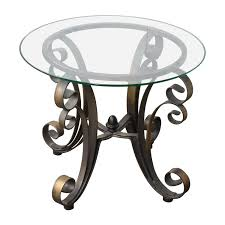 Glass Top Side Table 90 Off Rooms To Go Rooms To Go Glass Top Side Table With Bronze