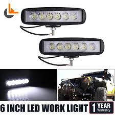 6 inch light bar 6 inch led work light bar spot offroadfog lights truck jeep 4wd