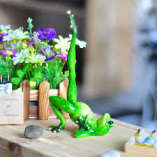 Frog Desk Accessories Novelty Frog Figurines Green Resin Frog Desk Decor