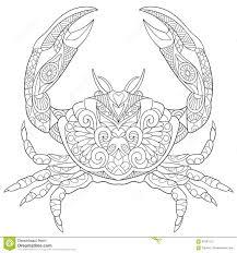 zentangle stylized crab stock vector image 67561515