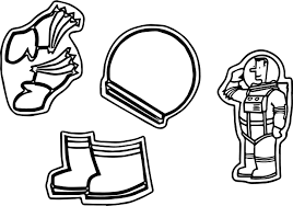 astronaut simple coloring page wecoloringpage