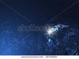 global digital mesh network vector eps10 stock vector 143567314