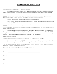 massage client waiver form picture massage therapy pinterest