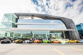 lamborghini car dealerships dubai opens s largest lamborghini showroom al arabiya