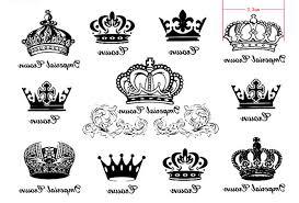 shop 1pcs 11 pattern sheet crown letters