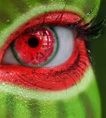 makeup cosmetics cosmetic art conceptual eye eyes watermelon