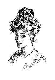 1916 charles dana gibson beauty sketch from his book 4 flickr