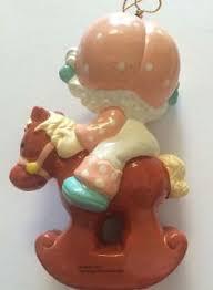 vintage 1980s ceramic strawberry shortcake ornament figurine