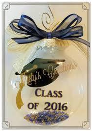 personalized glass graduation ornament class of 2015 tassel