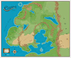 Pathfinder World Map The Wertzone A Superb Map Of Earwa From Scott Bakker U0027s Prince Of