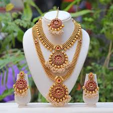 indian necklace set images Buy craftsvilla traditional south indian flower design maroon semi JPG