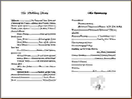 wedding bulletins exles 11 free printable church program templatesagenda template sle