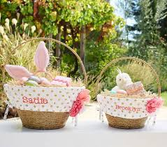 personalized easter basket liner glitter dot easter basket liners pottery barn kids