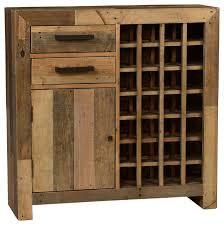 Wine Bar Cabinet Norman Reclaimed Pine Bar Cabinet Natural Multitone Rustic