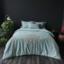 soft bed sheets 4pcs egyptian cotton soft bed sheets set purple green oriental