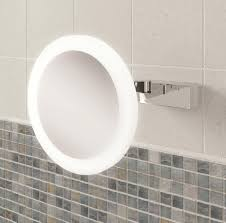 magnifying mirror for bathroom hib libra led illuminated magnifying mirror 21400
