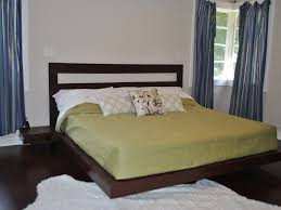 Bed Frame With Wood Legs Bedroom Rustic Wood Platform Bed Frame With Solid Legs Beautiful