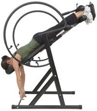 Exercise Upside Down Chair Inversion Table Exercises Hanging Crunches