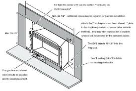 how to install gas fireplace insert this ventless gas fireplace insert with logs