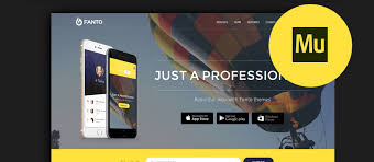 adobe muse mobile templates 50 best adobe muse landing page templates 2017