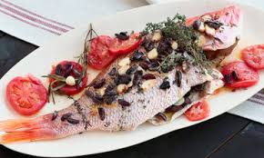 Seafood Recipes For Entertaining Martha by Video Whole Roasted Red Snapper With Tomatoes Lemons Thyme And