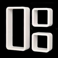 wandregal design 3er set lounge regal cube design bücherregal retro cd dvd