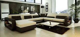 Designer Modern Sofa Contemporary Style Tufted Leather Corner Sectional Sofa