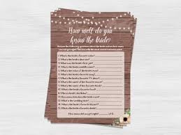 how well do you know the bride funny bridal shower games