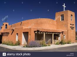 Adobe Style Home Usa New Mexico Taos Our Lady Of Guadalupe Parish Church Built