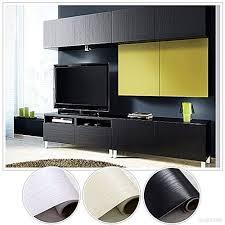 stickers meuble cuisine 20 0 61m stickers meubles bois imperméable noir en pvc papier
