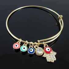 charm bracelet with evil eye images 2018 gold crystal hamsa hand evil eye bracelets adjust bangle jpg