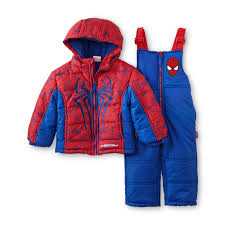 marvel spider man toddler boy s jacket snow pants