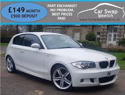 white bmw 1 series sport bmw 1 series 118d m sport white 2008 in ipswich suffolk gumtree