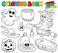 halloween clipart coloring clipartxtras