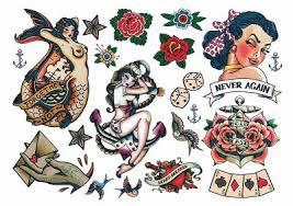 pin up temporary tattoos sheet tattoos temporary tattoos guru