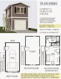 Loft Garage Plans by 100 2 Car Garage With Loft Garage Plan 44058 At