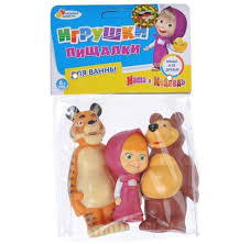 3pcs squeak masha bear bath toys tiger masha russian
